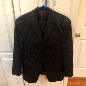 Calvin Klein Wool Gray Pinstripe Suit 40R W36